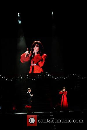 Donny Osmond and Marie Osmond - Marie and Donny Osmond performing live during their 'Christmas in South Florida' concert at...