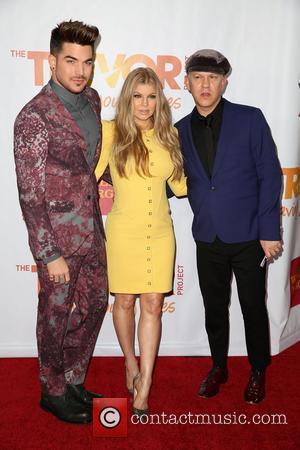 Adam Lambert, Fergie and Ryan Murphy