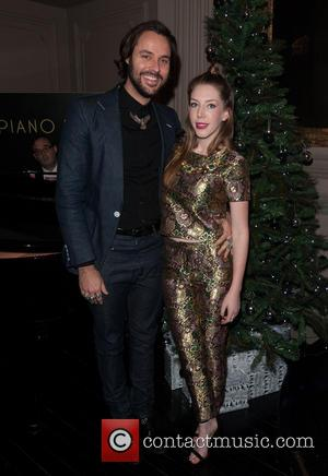 Katherine Ryan and guest - 'Aladdin' celebrity press night held at the New Wimbledon Theatre - Arrivals - London, United...