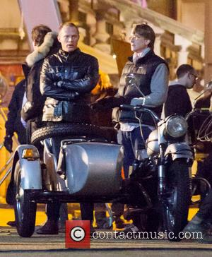Paul Bettany - Johnny Depp filming on the set of 'Mortdecai' in London. During the scene, Depp was spotted with...