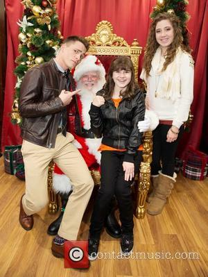Colton Haynes and Santa Claus - Brook Brothers' Holiday Celebration Benefiting St. Jude Children's Research Hospital - San Francisco, California,...