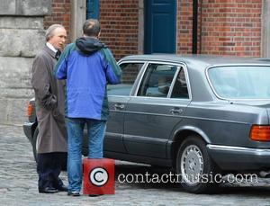 Aidan Gillen (plays Charlie Haughey) - RTE drama trilogy 'Citizen Charlie' being filmed at Dublin Castle - Dublin, Ireland -...