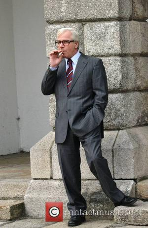 Barry Dobson (plays John Major) - RTE drama trilogy 'Citizen Charlie' being filmed at Dublin Castle - Dublin, Ireland -...