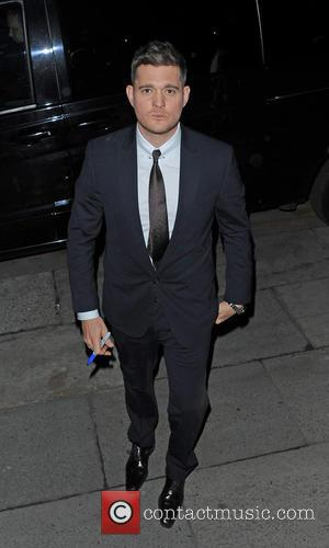 Michael Buble - Michael Buble leaving the ITV studios after filming the Alan Carr: Chatty Man show - London, United...