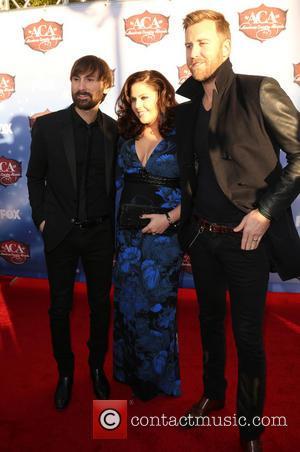 Charles Kelley, Dave Haywood and Hillary Scott - American Country Awards 2013 - Arrivals at Mandalay Bay Resort and Casino...