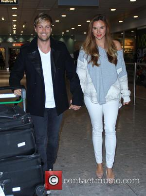 Kian Egan and Jodi Albert - 'I'm a Celebrity, Get Me Out of Here' contestants arrive back in London after...
