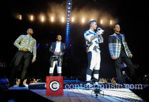 JLS - JLS performing live on stage at the LG Arena as part of their 'JLS Goodbye - The Greatest...
