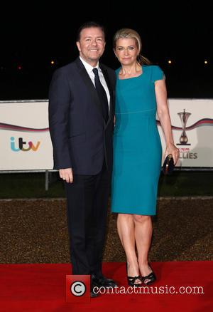 Ricky Gervais and Jane Fallon - The Sun Military Awards (Millies) 2013 held at the National Maritime Museum - Arrivals...