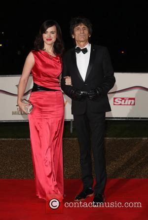 Ronnie Wood and Sally Humphries - The Sun Military Awards (Millies) 2013 held at the National Maritime Museum - Arrivals...