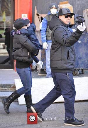 Pink, Carey Hart, Willow and Alecia Beth Moore - Pink and Carey Hart out in Soho with Willow - Manhattan,...