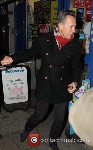 Richard E Grant - Richard E Grant is seen arriving at The El.train launch in Hoxton Hall - London, United...