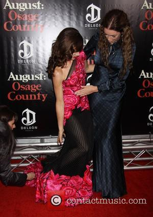 Juliette Lewis Wearing Naeem Khan and Julianne Nicholson