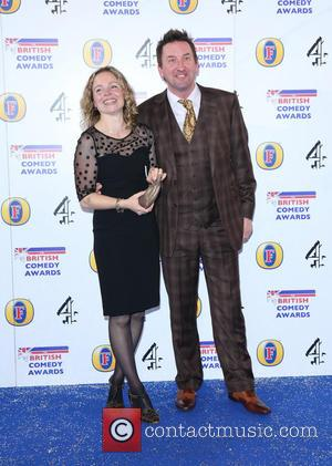 Lee Mack and Tara McKillop - The British Comedy Awards 2013 held at Fountain Studios - Arrivals - London, United...