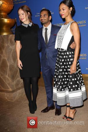 Olivia Wilde, Aziz Ansari and Zoe Saldana