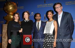 Sosie Bacon, Olivia Wilde, Aziz Ansari, Zoe Saldana and Theo Kingma