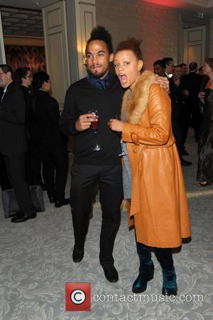 Dev and Gemma Cairney - Hotel - Arrivals - London, United Kingdom - Thursday 12th December 2013