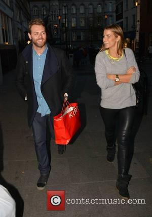 Brian McFadden and Vogue Williams McFadden - Celebrity couple Brian McFadden & wife Vogue Williams McFadden spotted out Christmas shopping...