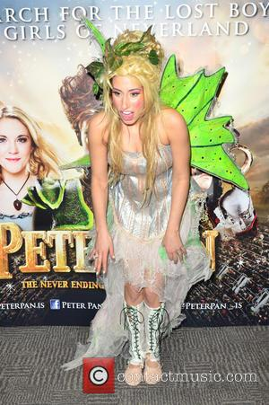 Stacey Soloman - 'Peter Pan - The Never Ending Story' opening night launch - London, United Kingdom - Friday 13th...