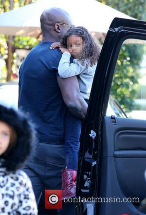 Seal, Lou Sulola Samuel and Seal Henry Samuel - Seal takes his children and their friends to Cecconi's restaurant for...