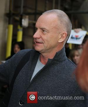 Sting and Gordon Sumner - Sting stops to sign autographs for fans as he arrives at the BBC Radio 2...