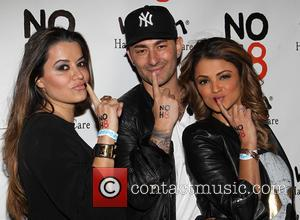 Leila Gharachedaghi, Dennis DeSantis and Golnesa 'GG' Gharachedaghi - NOH8 Campaign's 5th Annual Anniversary Celebration At Avalon - Hollywood, California,...