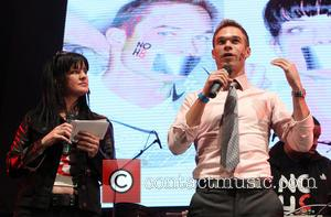 Pauley Perrette and Nick Symmonds - NOH8 Campaign's 5th Annual Anniversary Celebration_Show  At Avalon - Hollywood, California, United States...