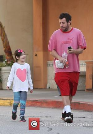 Adam Sandler and Sunny Madeline Sandler - Adam Sandler out and about with his daughter Sunny in Brentwood - Brentwood,...