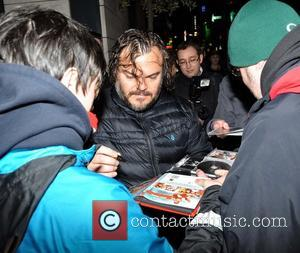 Jack Black - Hollywood actor Jack Black seen leaving the Morrison Hotel wearing shorts  and going christmas shopping. He...