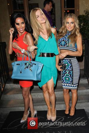 Carmen Electra, Joanna Krupa and Lilly Ghalichi - Celebrities at RivaBella in West Hollywood - Los Angeles, California, United States...