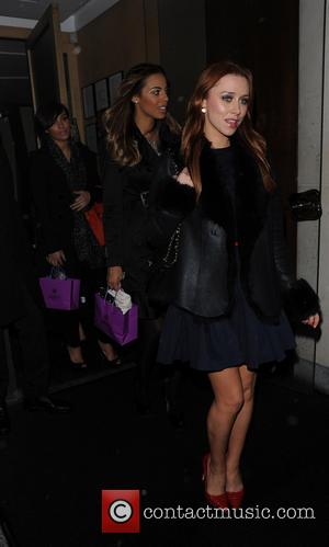 Una Healey - The Saturdays leave Nobu after having their Christmas dinner out as a band and exchanged presents with...