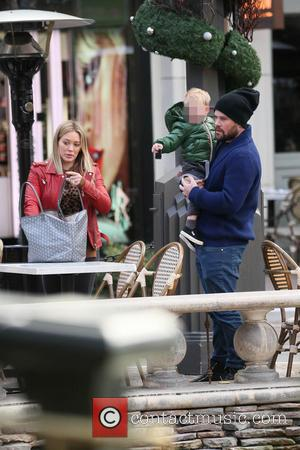 Hillary Duff, Luca and Mike Comrie