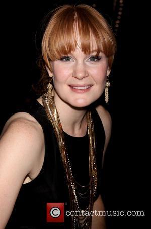 Kate Baldwin - Tony award nominee Kate Baldwin receives her portrait at Sardi's restaurant. - New York, New York, United...