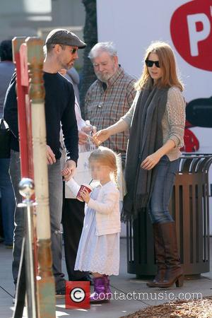 Amy Adams, Darren Le Gallo and Aviana Le Gallo - Amy Adams Christmas shopping at The Grove with fiance Darren...