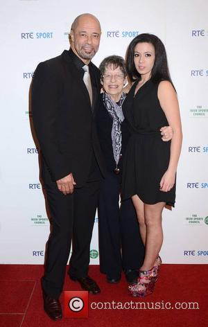 Paul Mcgrath, Betty Mcgrath (mother) and Mawia O'reilly (niece)