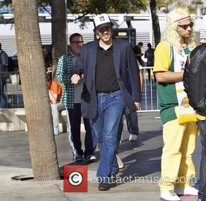 Benicio Del Toro - Celebrities out at the Lakers game.The Miami Heat defeated the Los Angeles Lakers by the final...