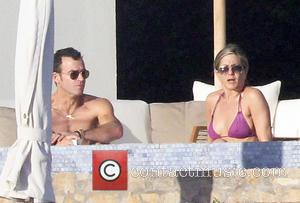 Jennifer Aniston and Justin Theroux - Jennifer Aniston and fiancee, Justin Theroux spend time on holiday in Los Cabos with...