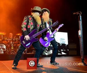 Dusty Hill and Billy Gibbons of ZZ Top - ZZ Top performing at Hard Rock Live! in the Seminole Hard...