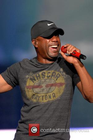 Darius Rucker - Country singer Darius Rucker performing on New Year's Eve at the AT&T Plaza - American Airlines Center...