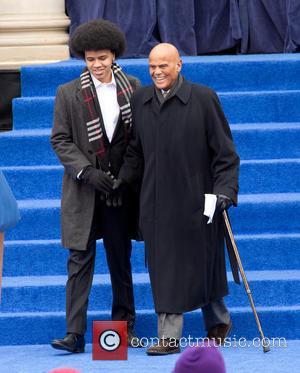 Dante DeBlasio and Harry Bellafonte - Inaguration ceremony of Bill De Blasio at City Hall making him the 109th mayor...