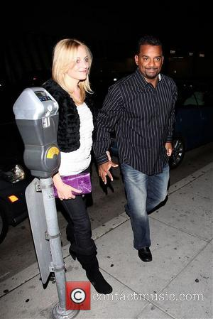 Alfonso Ribeiro - Alfonso Ribeiro arrives at Mr Chow with Angela Unkrich, his wife - Los Angeles, California, United States...