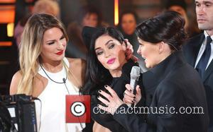 Jasmine Waltz, Emma Willis and Sam Faiers - Celebrity Big Brother 2014 - Contestants Enter The House - Borehamwood, United...