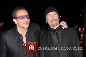 Bono and The Edge - 25th Annual Palm Springs International Film Festival Awards Gala at Palm Springs Convention Center -...