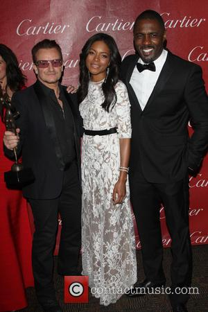 Bono, Naomie Harris and Idris Elba - 25th Annual Palm Springs International Film Festival Awards Gala - Backastage - Palm...