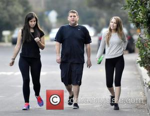 Jonah Hill and Isabelle McNally - Jonah Hill and new girlfriend Isabelle McNally (R) go for an evening hike with...