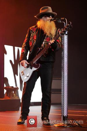 Dusty Hill - Dusty Hill, Frank Beard and Billy Gibbons of ZZ Top perform at Hard Rock Live! in the...