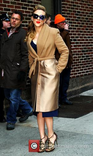 Scarlett Johansson - Celebrities at the  Ed Sullivan Theater for 'The Late Show with David Letterman' - Arrivals at...