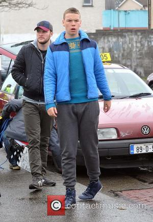 Jack Reynor and Will Poulter - Irish actor Jack Reynor on the film set of 'Glassland' which tells the story...