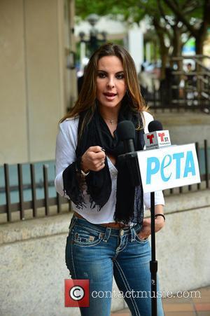 Kate del Castillo - Kate del Castillo attends a press conference in support of PETA - Miami, Florida, United States...