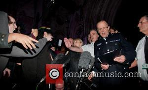 Mark Rowley - Mark Rowley, Assistant Chief Commissioner of the Metropolitan Police is heckled by protesters whilst delivering his statement...