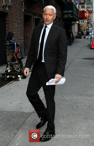 Anderson Cooper - Celebrities outside the Ed Sullivan Theater to appear on the Late Show with David Letterman - New...